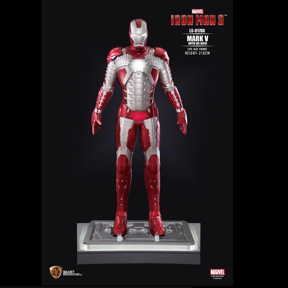 Iron Man 3 Life Size Statua Iron Man Mark V 210cm La Bottega Del