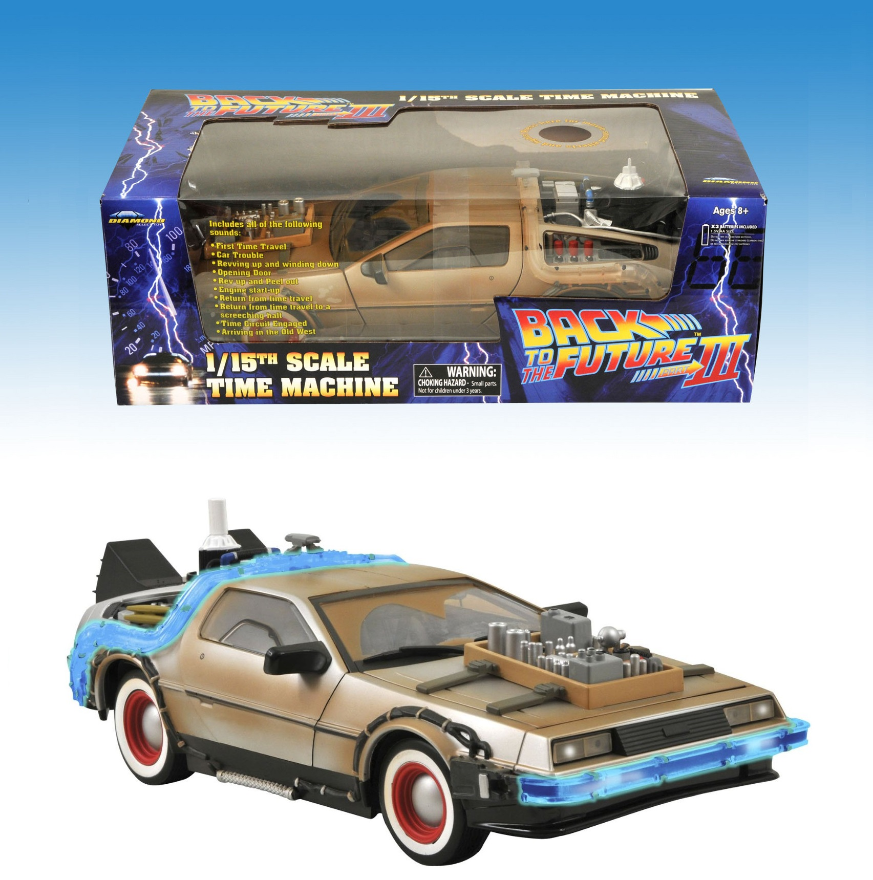 Ritorno al futuro III Back to the Future Delorean Time Machine 1:15 Diamond