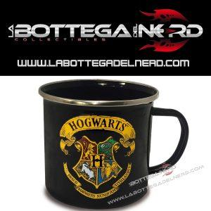 TAZZA IN METALLO SMALTATO - Harry Potter logo Hogwarts