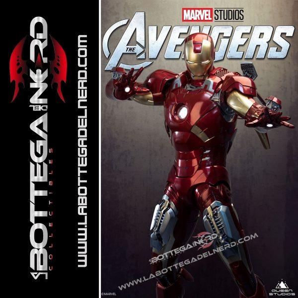 Marvel - Statua Queen Studios 1:2 Iron Man Mark 7 116cm