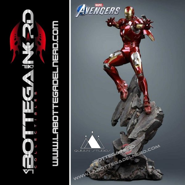 Marvel - Statua Queen Studios 1:4 Iron Man Mark 7 75cm