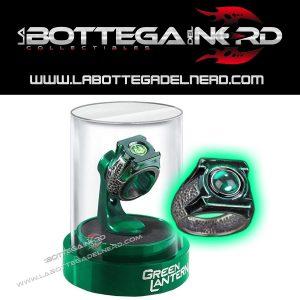 GREEN LANTERN - Anello Lanterna Verde in acciaio con espositore