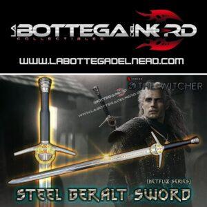 The Witcher - NETFLIX SERIES Replica Spada d'acciaio Geralt di Rivia