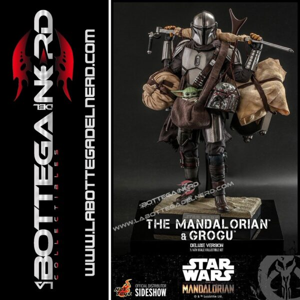 Star Wars The Mandalorian- 2-Pack Mandalorian & Grogu Deluxe 30cm